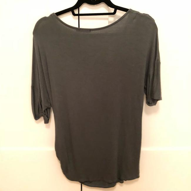 Ella Moss Green Rouched Stretchy Tee Shirt Size 4 (S) Ella Moss Green Rouched Stretchy Tee Shirt Size 4 (S) Image 2