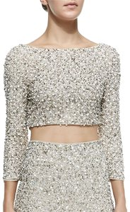 Alice + Olivia Top White, Gold, Silver