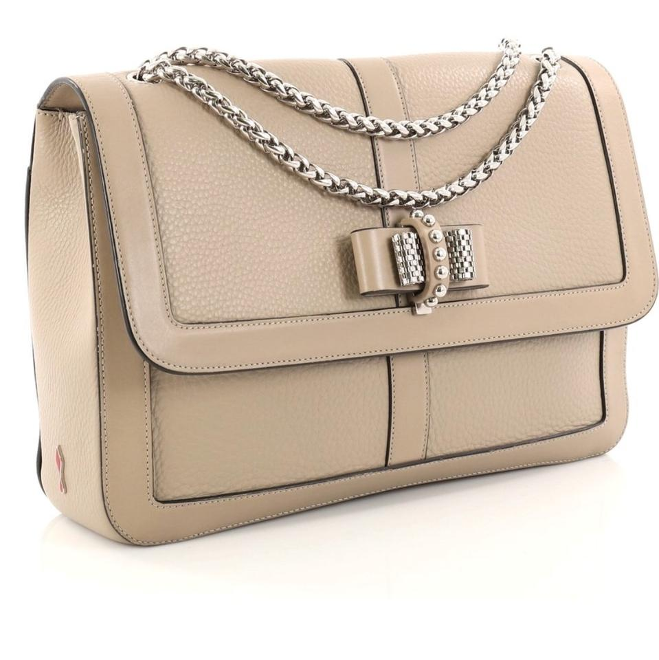 Charity Louboutin Shoulder Bag Grey Light Sweet Leather Christian 7FwfqAw