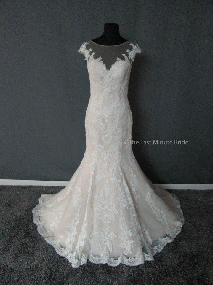 Justin Alexander Champagne Ivory Nude Lace
