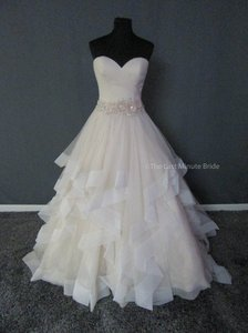 Allure Bridals Champagne Ivory Silver Tulle 9408 Feminine Wedding Dress Size 8 (M)