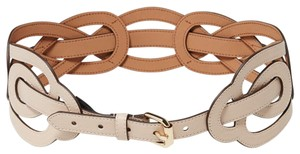 BCBGMAXAZRIA BCBG Tan Twist Belt