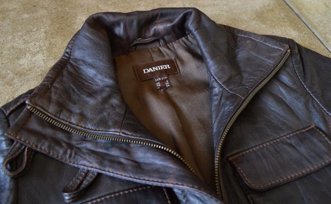 Danier Leather Brown Chocolate Leather Chocolate Brown Leather Jacket
