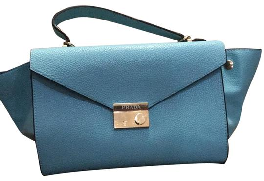 6fa1b20a20ad Prada Blue Leather Shoulder Bag | Stanford Center for Opportunity ...
