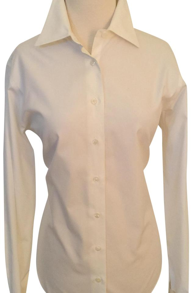 Brooks brothers white french cuff non iron button down top for Brooks brothers non iron shirt review