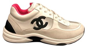 Chanel Trainer Logo Sneaker Flat Classic white Athletic