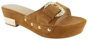 Stuart Weitzman Sw Whatsupdoc Crystal Buckle What's Up Doc Camel Brown Sandals