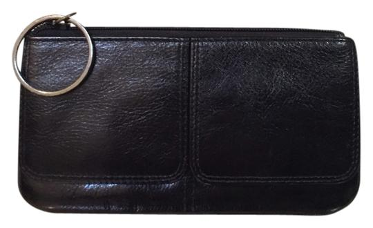 Unknown Black Leather Zip Pouch