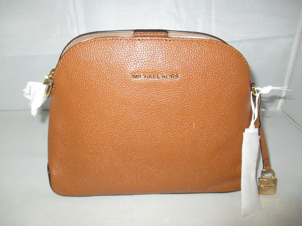 1cd7b82a1acd Michael Kors Studio Mercer Medium Dome Messenger Cross-body Luggage Pebbled  Leather Shoulder Bag