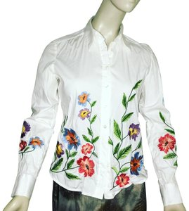 Serpui Button Down Shirt white