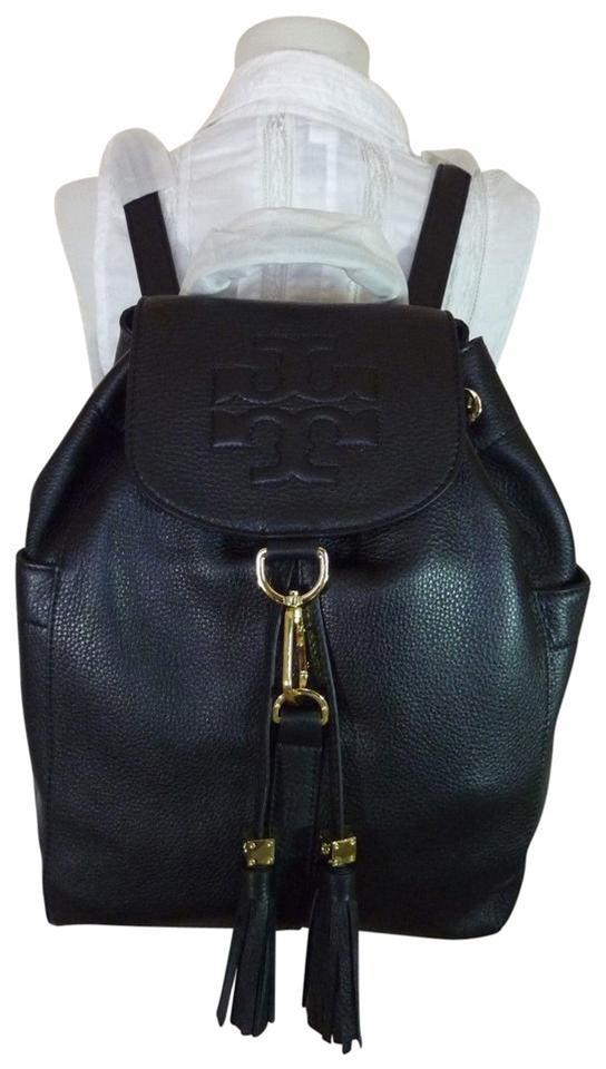 9312e13323a06 Tory Burch Thea Black Leather Backpack - Tradesy