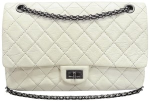 Chanel Reissue 226 White Double Flap Shoulder Bag