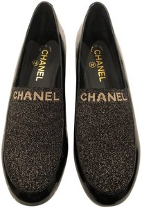 Chanel Oxford Loafer Mule Slide black Flats