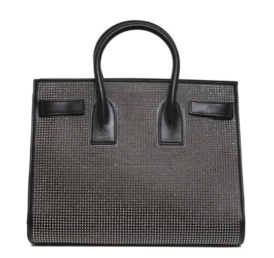 Saint Laurent Studded Leather Runway Tote in Black