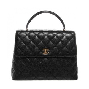 Chanel Kelly Caviar Leather Vintage Satchel in Black