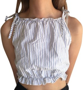 Brandy Melville Top blue white