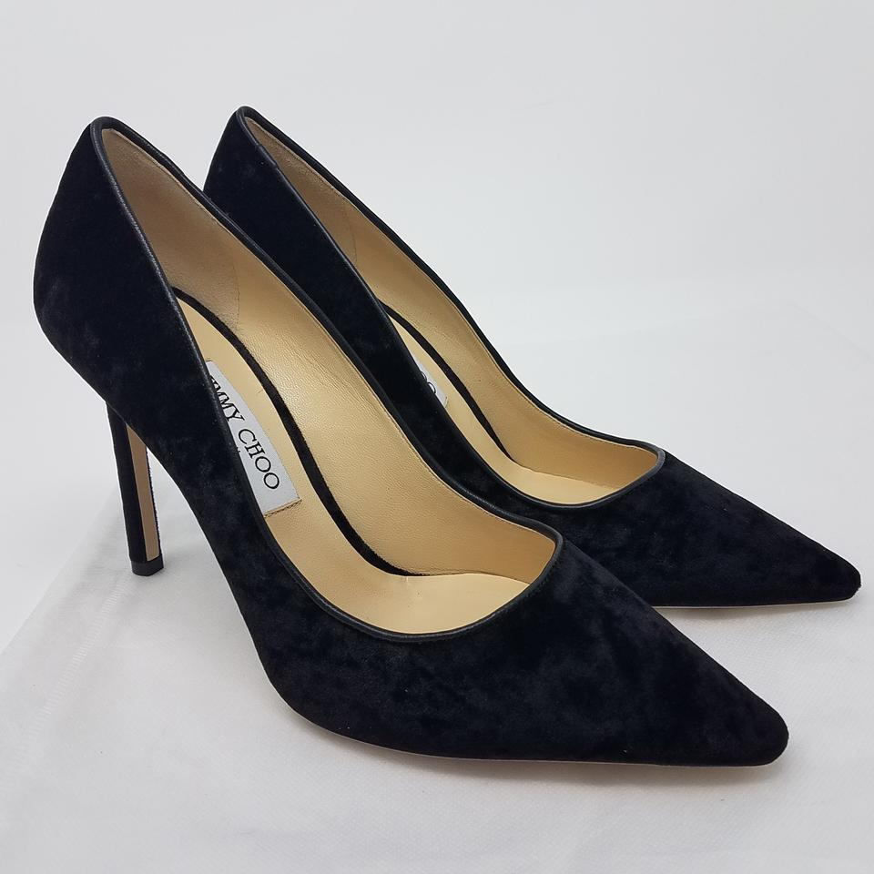 255dfa4caa72 Jimmy Choo Black Velvet Romy 100 Pointed-toe Pumps Size EU 39.5 (Approx. US  9.5) Regular (M
