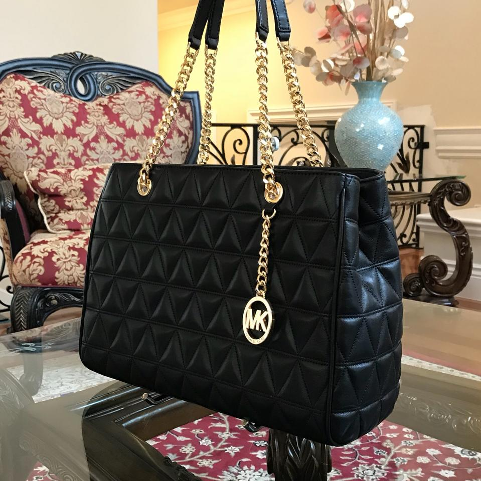 Michael Kors Susannah Large Tote Chain Quilted Handbag