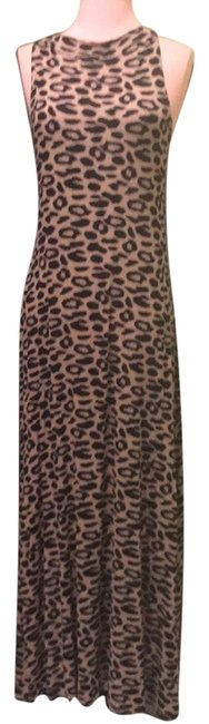 Item - Leopard Print Brown Maxi Long Night Out Dress Size 6 (S)