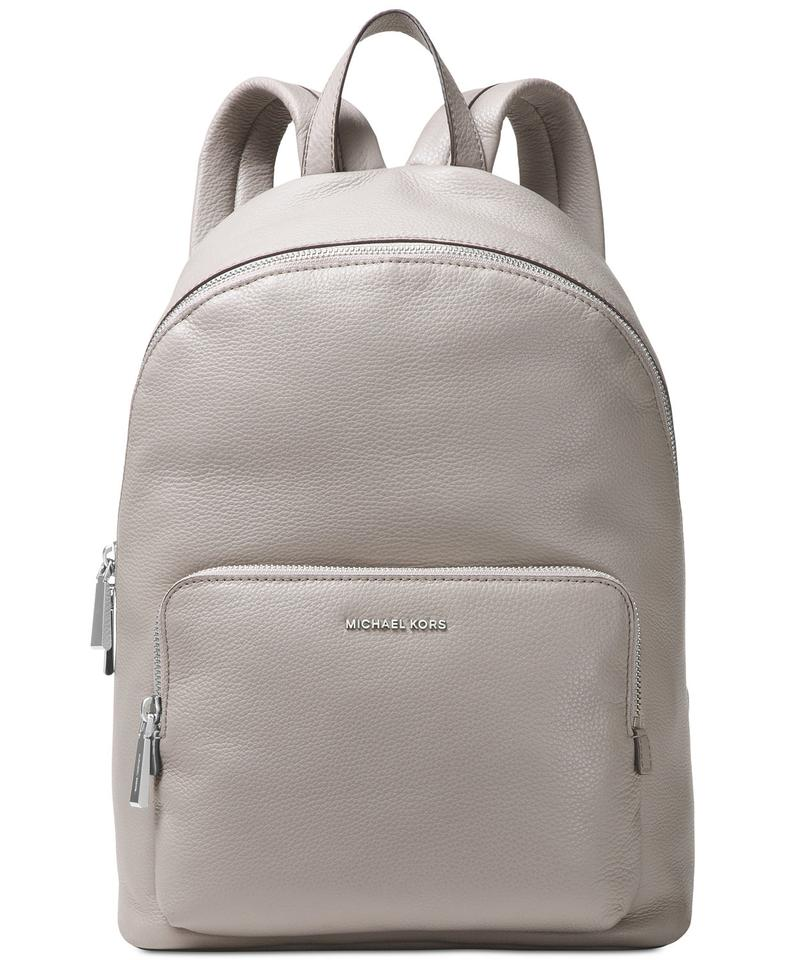 a3f9bff93271 Michael Kors Wythe Large Pearl Grey Leather Backpack - Tradesy