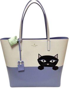 Kate Spade Tote in White Blue and Black