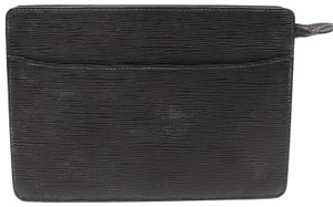 Louis Vuitton Dame Poche Unisex Pouch Trousse Black Clutch