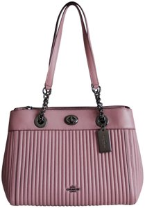 Coach Edie Quilted Carryall Dusty Rose Satchel in Pink
