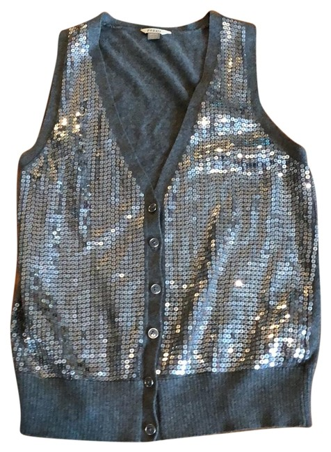 Item - Silver Sequined Vest Size 2 (XS)