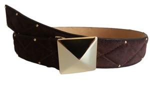Vince Camuto Vince Camuto Genuine Suede Leather Belt Black Size L NEW WITH TAGS