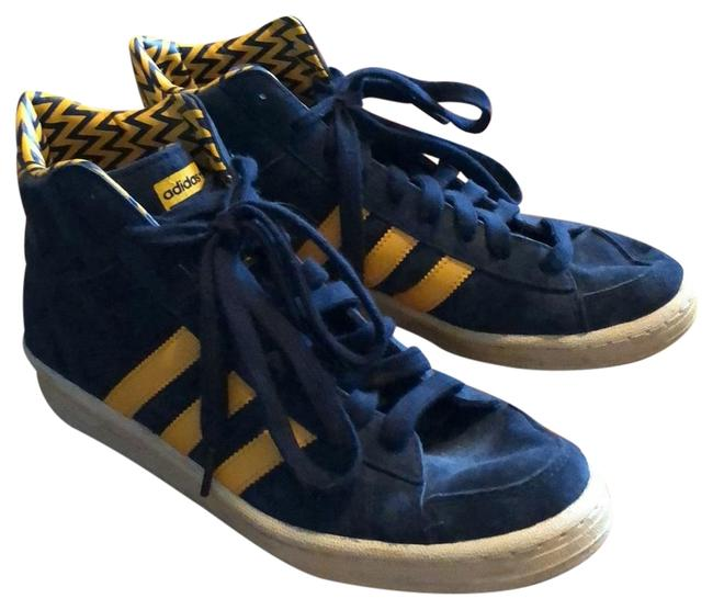 Item - Navy and Gold Vintage High Tops Sneakers Size US 7 Regular (M, B)