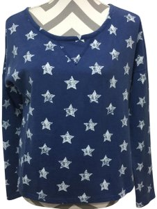 Poof! Apparel Star Print French Terry Open Back Sweatshirt