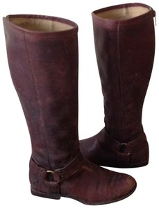 Frye Size 7.5 Women Size 7.5 Leather Dark Brown Boots