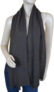 James Perse Brown Waffle Knit Pure Cashmere Scarf/Wrap