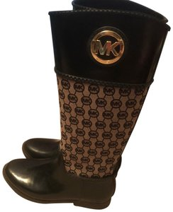 Michael Kors black and brown with gold accents Boots