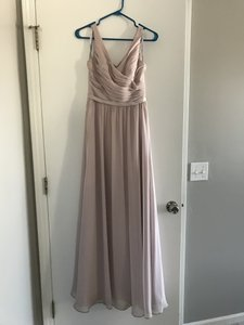 Alfred Angelo Cashmere Chiffon 7363l Formal Bridesmaid/Mob Dress Size 2 (XS)