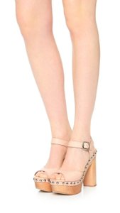 Jeffrey Campbell Wooden Summer Teen Pink Sandals