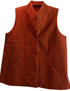 Eileen Fisher Size Xs Silk Quilted Vest