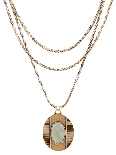 Lucky Brand 60% OFF! BRAND NEW Lucky Brand Gold-Tone Mint Pendant Layered Necklace