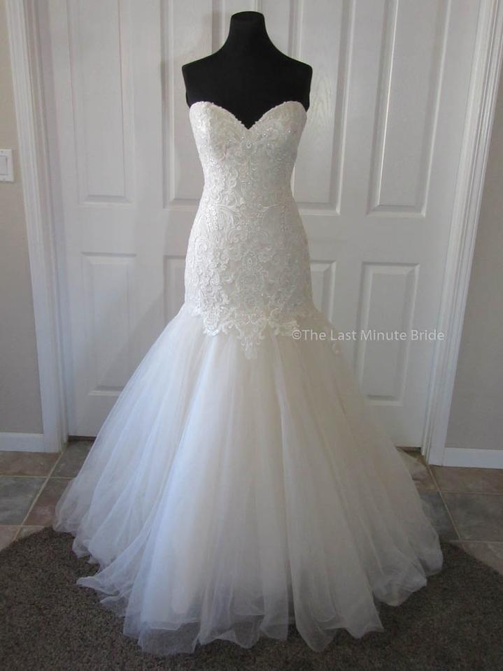 Kenneth Winston Lt Gold Ivory Silver Lace Tulle Ella Rosa Be344 ...