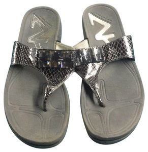 Anne Klein grey silver Sandals