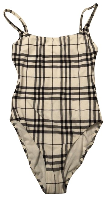 Item - White Black Check New One-piece Bathing Suit Size 8 (M)