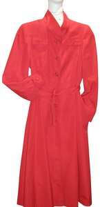 Just For Wraps Rain Light Weight Casual All Weather Trench Coat