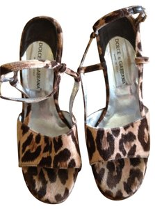 Dolce&Gabbana Dolce Gabana Animal Print Multi Wedges