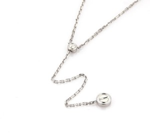 Cartier Love 18k White Gold Screw Motif Lariat Necklace w/Certificate