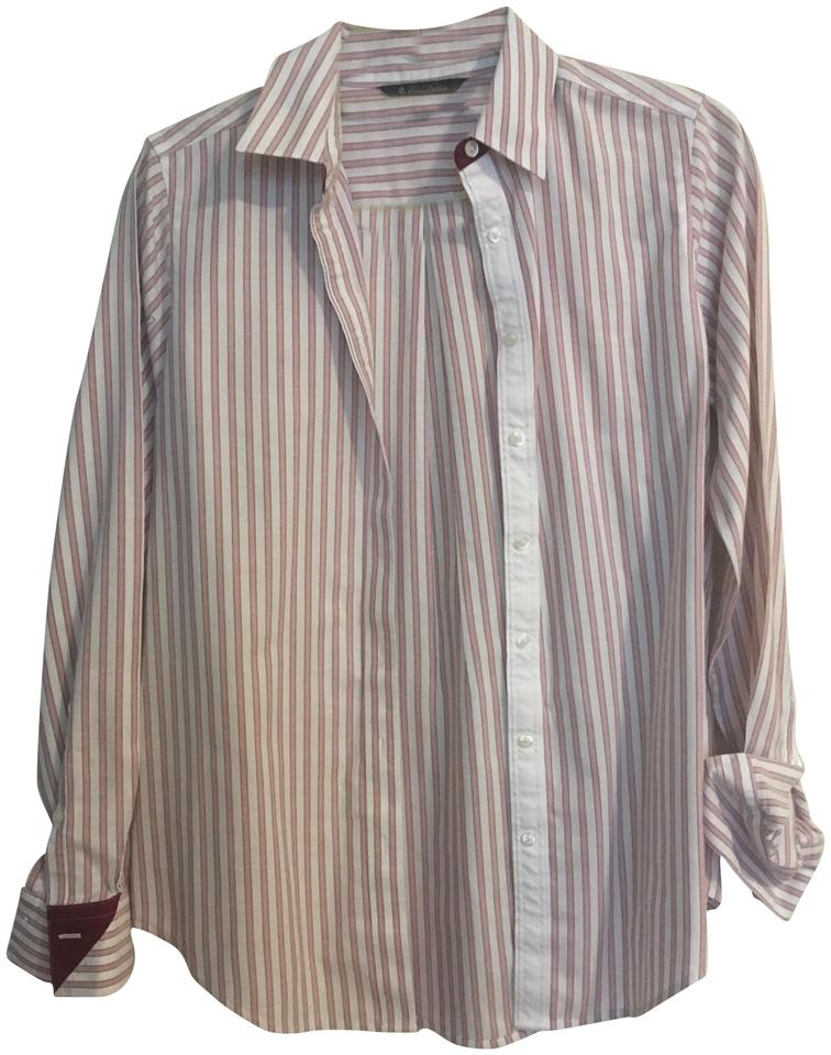 Brooks brothers pink stripe non iron dress shirt button for Brooks brothers non iron shirt review