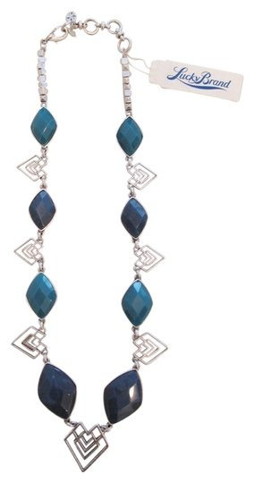 Preload https://img-static.tradesy.com/item/2295539/lucky-brand-silver-and-blue-60-off-stone-tribal-necklace-0-0-540-540.jpg