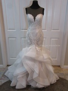 The Last Minute Bride Ivory Champagne Lace Blakley Marie Feminine Wedding Dress Size 2 (XS)