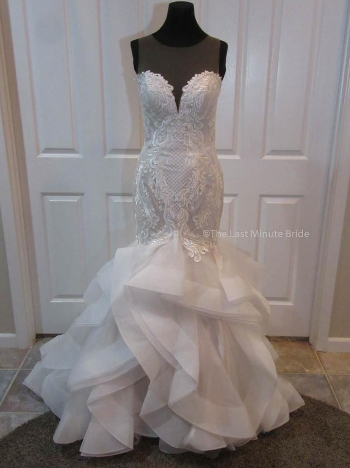 The last minute bride ivory champagne lace blakley marie for Last minute wedding dress