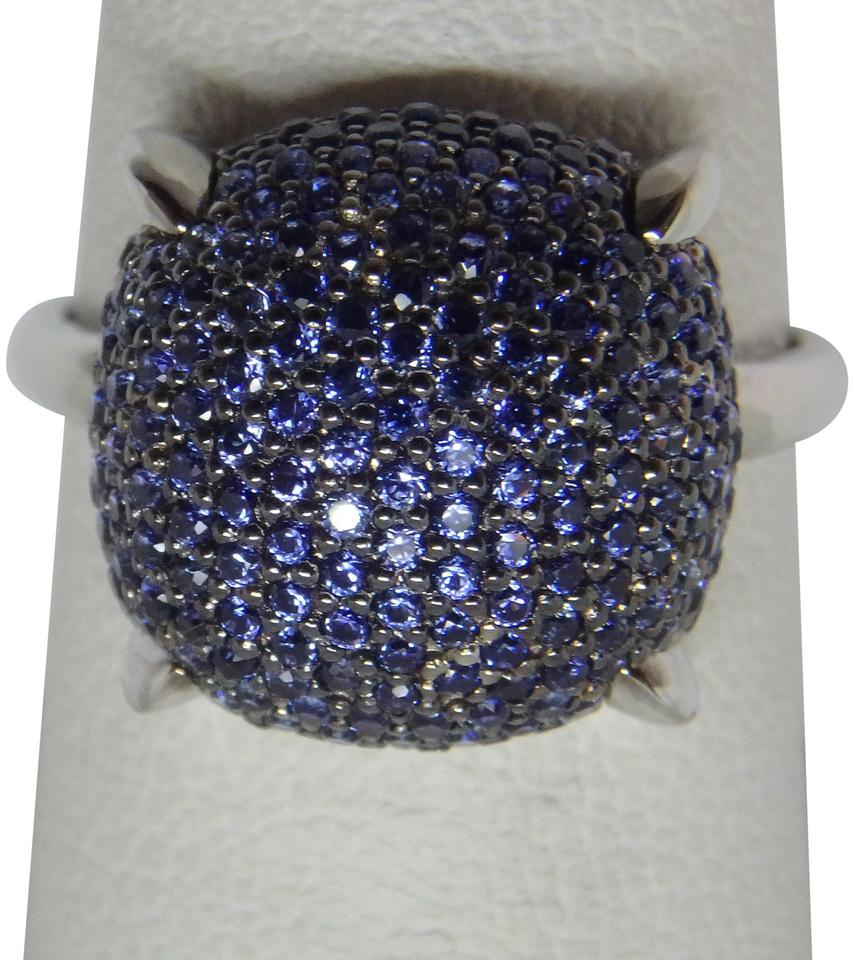 a21d53609 Tiffany & Co. Paloma Picasso large Sugar Stacks Sapphire white Gold ring  Image 0 ...