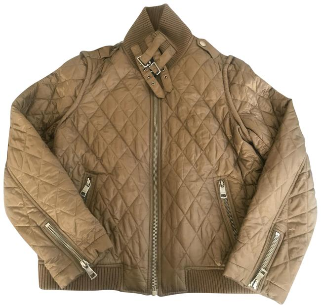 Item - Brown/Olive Quilted Bomber Jacket Coat Size 12 (L)